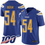 Wholesale Cheap Nike Chargers #54 Melvin Ingram Electric Blue Men's Stitched NFL Limited Rush 100th Season Jersey