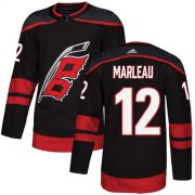 Wholesale Cheap Adidas Hurricanes #12 Patrick Marleau Black Alternate Authentic Stitched NHL Jersey