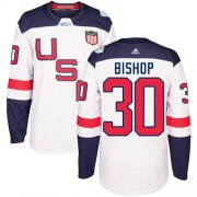 Wholesale Cheap Team USA #30 Ben Bishop White 2016 World Cup Stitched Youth NHL Jersey