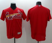 Wholesale Cheap Cardinals Blank Red Flexbase Authentic Collection Stitched MLB Jersey