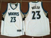 Wholesale Cheap Men's Minnesota Timberwolves #23 Jimmy Butler White Stitched NBA adidas Revolution 30 Swingman Jersey
