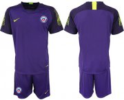 Wholesale Cheap Chile Blank Purple Goalkeeper Soccer Country Jersey
