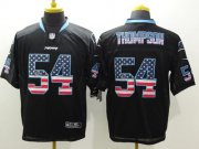 Wholesale Nike Panthers #54 Shaq Thompson Black Men's Stitched NFL Elite USA Flag Fashion Jersey