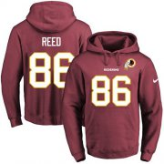 Wholesale Cheap Nike Redskins #86 Jordan Reed Burgundy Red Name & Number Pullover NFL Hoodie