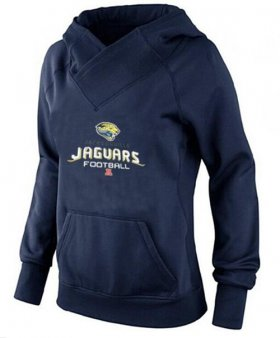 Wholesale Cheap Women\'s Jacksonville Jaguars Big & Tall Critical Victory Pullover Hoodie Navy Blue