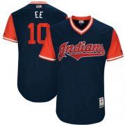 "Wholesale Cheap Indians #10 Edwin Encarnacion Navy ""EE"" Players Weekend Authentic Stitched MLB Jersey"
