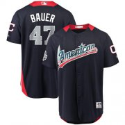 Wholesale Cheap Indians #47 Trevor Bauer Navy Blue 2018 All-Star American League Stitched MLB Jersey