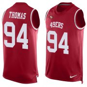 Wholesale Cheap Nike 49ers #94 Solomon Thomas Red Team Color Men's Stitched NFL Limited Tank Top Jersey