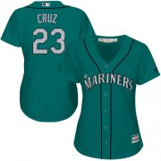 Wholesale Cheap Mariners #23 Nelson Cruz Green Alternate Women's Stitched MLB Jersey