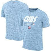 Wholesale Cheap Chicago Cubs Nike Authentic Collection Velocity Team Issue Performance T-Shirt Light Blue