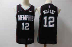 Wholesale Cheap Grizzlies 12 Ja Morant Black Nike Swingman Jersey