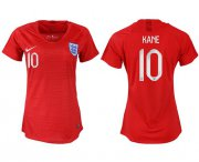 Wholesale Cheap Women's England #10 Kane Away Soccer Country Jersey