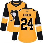Wholesale Cheap Adidas Penguins #24 Dominik Kahun Gold Alternate Authentic Women's Stitched NHL Jersey