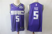 Wholesale Cheap Kings 5 De'Aaron Fox Purple Nike Swingman Jersey