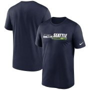Wholesale Cheap Seattle Seahawks Nike Fan Gear Team Conference Legend Performance T-Shirt College Navy
