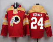 Wholesale Cheap Nike Redskins #24 Josh Norman Burgundy Red Player Pullover NFL Hoodie