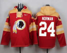 Wholesale Nike Redskins #24 Josh Norman Burgundy Red Player Pullover NFL Hoodie