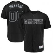 Wholesale Cheap Seattle Mariners Majestic 2019 Players' Weekend Flex Base Authentic Roster Custom Jersey Black