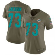 Wholesale Cheap Nike Dolphins #73 Austin Jackson Olive Women's Stitched NFL Limited 2017 Salute To Service Jersey