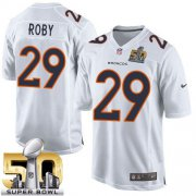 Wholesale Cheap Nike Broncos #29 Bradley Roby White Super Bowl 50 Men's Stitched NFL Game Event Jersey