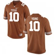 Wholesale Cheap Men's Texas Longhorns 10 Vince Young Orange Nike College Jersey