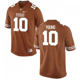 Wholesale Cheap Men\'s Texas Longhorns 10 Vince Young Orange Nike College Jersey