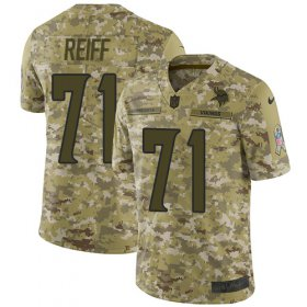 Wholesale Cheap Nike Vikings #71 Riley Reiff Camo Men\'s Stitched NFL Limited 2018 Salute To Service Jersey