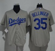 Wholesale Cheap Dodgers #35 Cody Bellinger Grey New Cool Base Stitched MLB Jersey