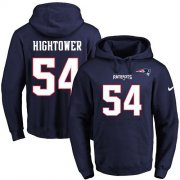 Wholesale Cheap Nike Patriots #54 Dont'a Hightower Navy Blue Name & Number Pullover NFL Hoodie