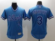 Wholesale Cheap Braves #3 Dale Murphy Light Blue Flexbase Authentic Collection Cooperstown Stitched MLB Jersey