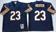 Wholesale Cheap Mitchell&Ness Bears #23 Devin Hester Blue Small No. Throwback Stitched NFL Jersey