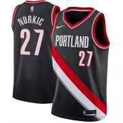 Wholesale Cheap Blazers #27 Jusuf Nurkic Black Basketball Swingman Icon Edition Jersey