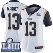 Wholesale Cheap Nike Rams #13 Kurt Warner White Super Bowl LIII Bound Women's Stitched NFL Vapor Untouchable Limited Jersey