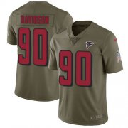 Wholesale Cheap Nike Falcons #90 Marlon Davidson Olive Youth Stitched NFL Limited 2017 Salute To Service Jersey