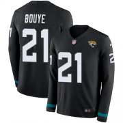 Wholesale Cheap Nike Jaguars #21 A.J. Bouye Black Team Color Men's Stitched NFL Limited Therma Long Sleeve Jersey