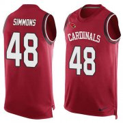 Wholesale Cheap Nike Cardinals #48 Isaiah Simmons Red Team Color Men's Stitched NFL Limited Tank Top Jersey