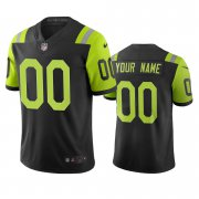 Wholesale Cheap New York Jets Custom Black Green Vapor Limited City Edition NFL Jersey