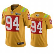 Wholesale Cheap Los Angeles Rams #94 John Franklin-Myers Gold Vapor Limited City Edition NFL Jersey