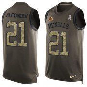 Wholesale Cheap Nike Bengals #21 Mackensie Alexander Green Men's Stitched NFL Limited Salute To Service Tank Top Jersey