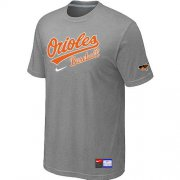 Wholesale Cheap Baltimore Orioles Nike Short Sleeve Practice MLB T-Shirt Light Grey