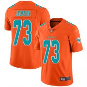 Wholesale Cheap Nike Dolphins #73 Austin Jackson Orange Men's Stitched NFL Limited Inverted Legend Jersey