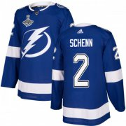 Cheap Adidas Lightning #2 Luke Schenn Blue Home Authentic 2020 Stanley Cup Champions Stitched NHL Jersey