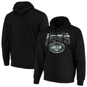 Wholesale Cheap New York Jets G-III Sports by Carl Banks Perfect Season Full-Zip Hoodie Black