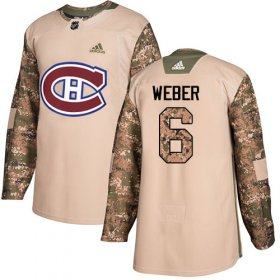 Wholesale Cheap Adidas Canadiens #6 Shea Weber Camo Authentic 2017 Veterans Day Stitched Youth NHL Jersey