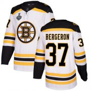 Wholesale Cheap Adidas Bruins #37 Patrice Bergeron White Road Authentic Stanley Cup Final Bound Stitched NHL Jersey