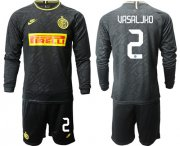 Wholesale Cheap Inter Milan #2 Vrsaljko Third Long Sleeves Soccer Club Jersey