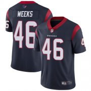 Wholesale Cheap Nike Texans #46 Jon Weeks Navy Blue Team Color Men's Stitched NFL Vapor Untouchable Limited Jersey