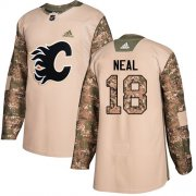 Wholesale Cheap Adidas Flames #18 James Neal Camo Authentic 2017 Veterans Day Stitched Youth NHL Jersey
