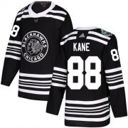 Wholesale Cheap Adidas Blackhawks #88 Patrick Kane Black Authentic 2019 Winter Classic Stitched Youth NHL Jersey