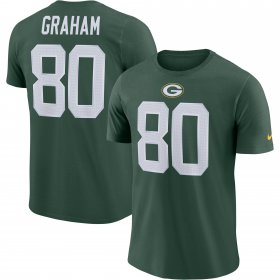 Wholesale Cheap Green Bay Packers #80 Jimmy Graham Nike Player Pride Name & Number Performance T-Shirt Green